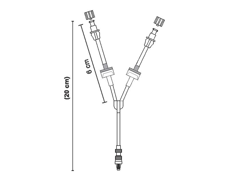 Linha do paciente 2 válvulas anti-refluxo