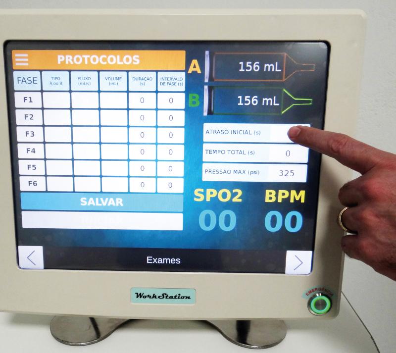 Fácil utilização através de software próprio e monitor acoplado ao equipamento
