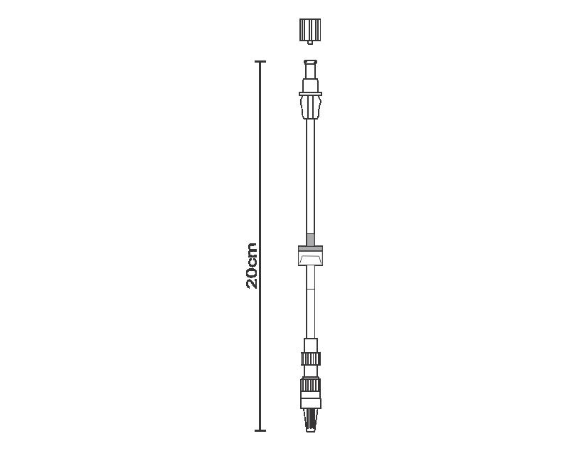Linha do paciente 1 válvula anti-refluxo